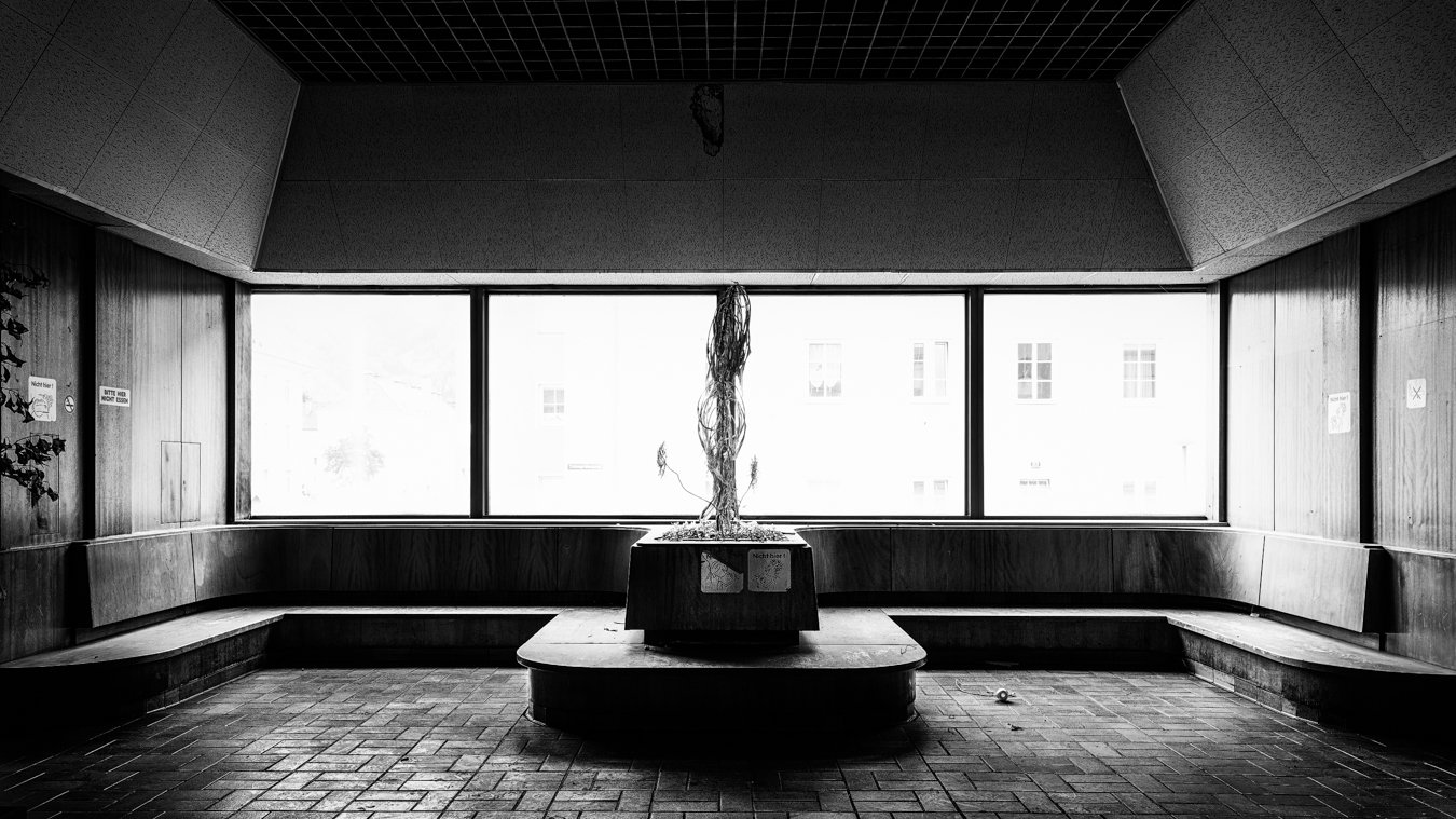 Taken at a nearby indoor swimming pool. I visited this location just two weeks before it was demolished. It was closed down in 2008 just when a new spa a few kilometers away was opened. Unfortunately, it was vandalized just days before I arrived.